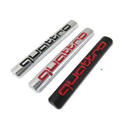 Rs 3d on-line-3D Metal Quattro Etiqueta Do Carro Emblema Emblema Decalque Adesivo para Audi A3 A4 A5 A6 A7 S8 S3 S4 S5 Q6 Q5 Q7 TT R8 RS