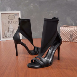 Wholesale ankle boots size 41 - Luxury New Womens Louise Ladies Summer High Heel 10CM Sandal Boots Sexy Peep Toes Shoes Size 35-41