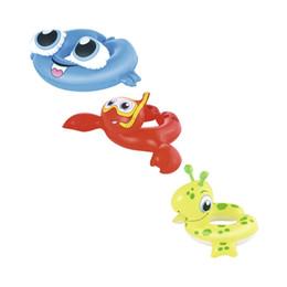 Wholesale frog floats - Inflatable Kids Sea Creature Deer Frog Crab Swim Ring Swimming Pool Float Water Toys Fun Raft Boia Piscina