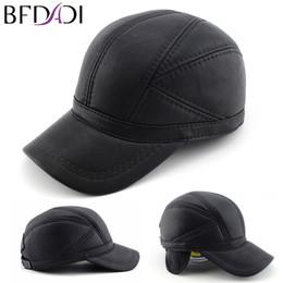 Al por mayor-BFDADI de alta calidad de imitación de cuero genuino sombrero  de invierno gorra de béisbol del sombrero ajustable para los hombres  sombreros ... 86ae8ca5972