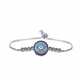 Wholesale turkey evil eye charms bracelet - whole saleTurkish Jewelry Stainless Steel Bracelet Turkey Evil Eye Rhinestone AAA Zircon Charm Bracelets for Women Men Adjustable