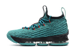 Wholesale Media Plus - plus size 11 color Lebrons15 mesh Men Basketball Shoes Sports Shoes XV Man Running shoe High Quality James 15s Sneakers US7-12