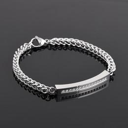 Pulseras conmemorativas online-Crystal Inlay Cremation Urn Bracelet Acero Inoxidable Funeral Ash Holder Keepsake Jewelry Fashion Memorial Bracelet for Women Girl