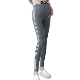 82d797ce505ef Knitted Leggings Maternity Pants For Pregnant Women Clothes Side Striped  Sideseam Sweatpants Comfy Leisure Pregnancy Leggings