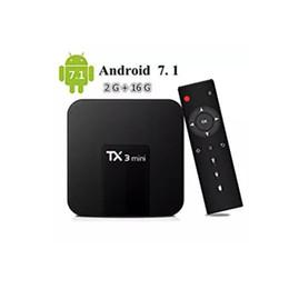 Wholesale mini 16gb - Amlogic S905W TX3 Mini 2GB 16GB TV Box Quad-core Android 7.1 TV Streaming Boxes TX3-mini better than MXQ Android TV Box