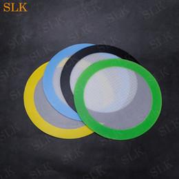 pad concentré Promotion FDA qualité alimentaire antiadhésive concentré bho cire slick huile forme ronde résistant à la chaleur en fibre de verre silicone dab pad mat réutilisable