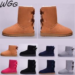 142914453accd9 2019 schwarze warme stiefel für frauen UGG boots Arten WGG klassische  Kastanie Australien halb Kniestiefel für