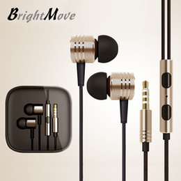 Wholesale Universal Update - metal bass updated version 3.5mm XIAOMI HIFI Earphone Headphone Ears headset Noise Cancelling For XiaoMI Samsung