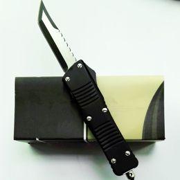 Wholesale custom tanto knife - troodon hellhound D1 D2 Custom Combat Troodon double action black Tanto Xmas gift automatic knife 1pcs