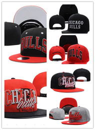 Wholesale Chicago Ball - wholesale Newest CHICAGO Adjustable BULLS Snapback Hat Best Cheap Letters Adults Sports Baseball Caps Cotton Active Sun hats for Men Women
