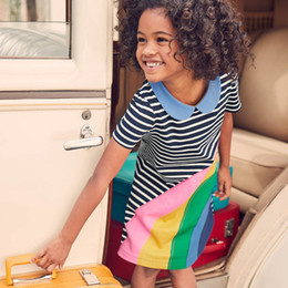 Wholesale Wholesale Kids Costumes - Kidsalon Girls Cotton Tunic Dress Short Sleeve 2018 Brand Summer Princess Dress Cartoon Appliques Children Costume for Kids Dresses