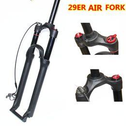 revestimiento de gas Rebajas HIMALO mountain bike fork horquilla 29 ER Line control lock horquilla delantera gas Magnesio ALLoy freno de disco 29er bicycle