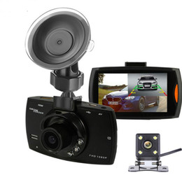 Retrovisor video de la cámara online-Nuevo Podofo Two lens Car DVR Dual Camera G30 1080P Video Recorder con cámaras de visión trasera Loop Recording Camcorder BlackBox