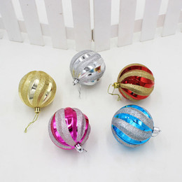Wholesale Silver Ornament Balls - 6Pcs Pack Cute Christmas Decorations Charms Pendants Colourful Frosted Balls Birthday Festival Home Party Drop Ball Ornament 8CM