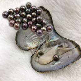Wholesale Holidays Packs - Whosale Peacock 6-7mm Round Pearl With AAA Grade In Freshwater Oysters Individually Vacuum Pack Fashion Trend Gift Surprise Love Wish Pearl