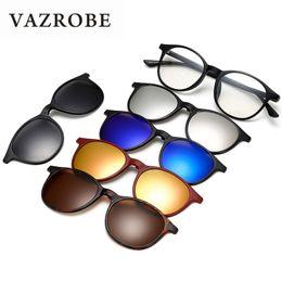 Vazrobe 5 Lente Clipe em óculos de Sol Polarizados Homens Mulher Condução  Óculos de Sol para Night Vision Goggles do Diop ... visão noturna óculos  clip ... d432a0d961