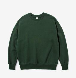 Grün pullover pullover online-2018 Herren Freizeit Freizeithülse Dunkelgrün Runder Pullover