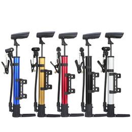 Pompe pneumatiche online-Mini bici portatili Pompa Durevole Manuale In lega di alluminio Bicicletta Pompa ad aria Risparmio di lavoro Pneumatico Gonfiatore a sfera Pratico 6 3jc B