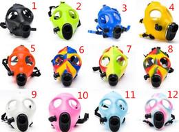 2019 máscara para el humo Máscara de silicona para fumar Dogo Acrílico Creativo Tubo de fumar Tubería de gas Máscara de gas Bongs de acrílico para hierba seca Shisha PipeSBO-011 máscara para el humo baratos