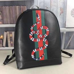 Bolsos de moda para hombres online-Marca mujeres y hombres mochilas de cuero genuino marca de serpiente de diseño bolso mochila para mujeres bolsas 39 * 33 * 13 # 419584