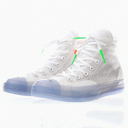 Wholesale popular shoes men - Popular 2018 Sport High-tops Star shoes White classic Men Skateboard Shoes Ice Blue combination sneakers new with box