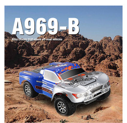 Wholesale max car battery - New RC Car A969 upgrade version a969-b 1 18 2.4Ghz 4WD drive RC Remote Control Truck max speed 70kg h 1400MAH battery