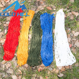 Maillage oscillant en Ligne-Hamac suspendu en maille facile à transporter Hamacs en nylon avec sac de rangement Corde attachée Extérieur Lit de couchage Swing durable 11bt B