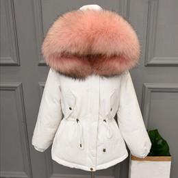 6202d49709d Thicken Warm Winter Coat Women Oversize 2018 Large Real Natural Fur White  Duck Down Parka Hooded Outerwear Winter Jacket Women S916