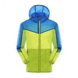 Wholesale Hooded Mens Light Jacket - Wholesale-Light Thin Skin Clothing Mens Sport Coat Men Running Jackets Soft Shell Outdoor Jacket Zip Pocket Hooded Male Jogging Raincoat
