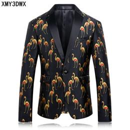 12cdda459dc520 Neue Ankunft Slim Fit Mode Herren Anzug Hochzeit Stage Party Kleid Muster  Blazer Druck Vogel Anzüge Blazer Jacke Kostüm Mantel günstig suit blazer new  ...