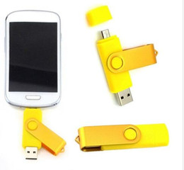 Wholesale Swivel Memory Sticks - Colorful 64GB 128GB 256GB OTG USB Swivel USB 2.0 Flash Drives Memory Stick for Android Smartphones Tablets PenDrives U Disk Thumbdrives