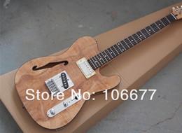 2014 Nouvelle Arrivée Nature Bois F Telecaster Semi Creux Guitare F Trou Jazz Custom Shop Guitare Électrique 6 Cordes Livraison Gratuite ? partir de fabricateur