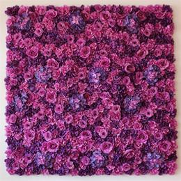 Vrais accessoires en Ligne-Haute Dense 60cmx40cm Fleur De Mariage Mur Real Touch Artifical Rose Hortensia Pivoine Fleur Photographie Props Événement Fête De Mariage Décor