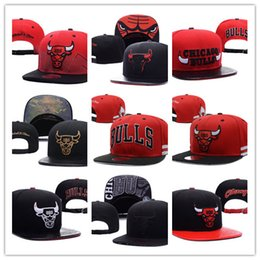 Wholesale matching hats - 2018 New Caps Basketball Snapback Leather Hats red Color Cap Football Baseball Team Hats Mix Match Order All Caps Top Quality Hat Wholesale