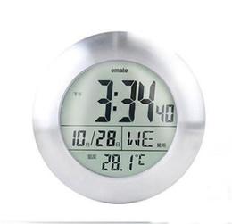 2019 design do relógio aquático Moda À Prova D 'Água Relógio de Parede Sala de Duche Eletrônica Temperatura E Exibição de Umidade Relógios Multi Função Novo Design 60xc ZZ design do relógio aquático barato