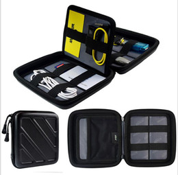 Wholesale Cell Stuff - Universal Travel Case EVA Bag for Mobile Phone Small Electronic Accessories Storge Hand Bag Data Cables Cell phone Storage Bags KKA3851