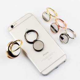Wholesale Anillo del coche soporte para teléfono móvil todo el anillo magnético de metal hebilla del anillo del teléfono móvil grados giratoria soporte de escritorio regalo personalización