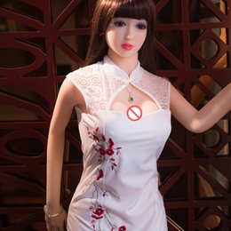 Wholesale Chinese Mans Dolls - CE ROHS SGS certificated Chubby Girl 165cm Heated Silicone Chinese Style Sex doll for men Oral Anal Vagina Sex