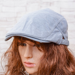 Wholesale Driver Hats - HOT Sale Mens Vintage Beret Hat Cabbies Flat Peaked Duckbill Driver Newsboy Cap