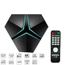Mezzo di ferro online-Magicsee Iron + Amlogic S912 Octa Core 3G 32G Android 7.1 TV Box 2.4G / 5.8G WiFi suppot Aggiornamento OTA Lan 1000M BT4.1 Media Player 4K