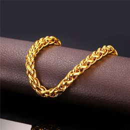 Wholesale 5mm figaro chain necklace - Figaro Choker Chains 18K Real Gold Plated Necklace Luxury Jewelry For Men Male Party Gift Rock Rapper 5MM Cuban Link Chain Free Shipping