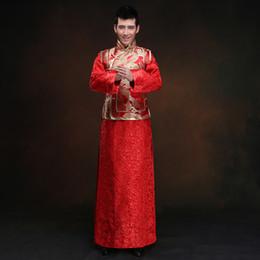 6117fe65dc06 mens tunica bianca cinese rosso abito da sposa tradizionale cinese  abbigliamento orientale per gli uomini vestito di linguetta giacca tunica  camicie tuniche ...
