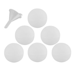 Wholesale Chocolate Candy Balls - 6pcs Silicone Sphere Round Ball Ice Cube Mold Tray Diy Jelly Candy Chocolate Mold With A Small Funnel Bar Supplies