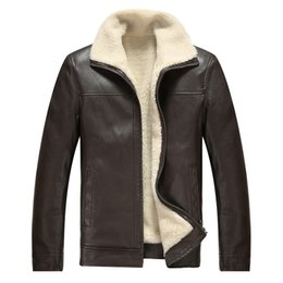 Wholesale Mens High Fashion Leather Jackets - Brand Autumn Winter High Quality PU Faux Leather Jacket Men Casual Thick Warm Velvet Mens Jackets Coat Motorcycle Coat