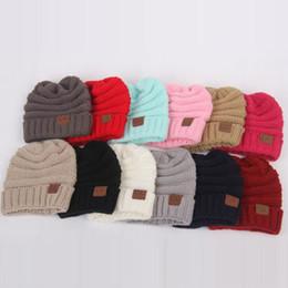 головные уборы для детей Скидка Дети CC шапочки шляпы зимние трикотажные теплые шерстяные шапочки капюшоны CC Skullies шапки для детей хорошее качество