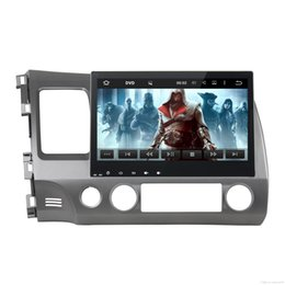 Wholesale Honda Dvd Player Gps - 10.1 Inch auto radio 2G android 7.1 car dvd gps player for honda civic 2006-2011 car radio video player gps navigation car stereo 2 din dvd