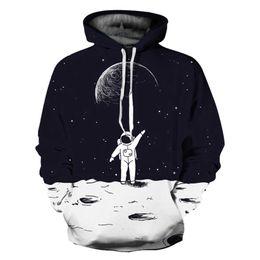 Canada Date Hommes Femmes 3D Hoodies Sweats Spaceman Sur La Lune Pull Sweat Dot Motif À Capuche Mince Hoody Marque Survêtements supplier men dotted hoodie Offre