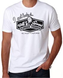 Placer de pareja online-Regreso al futuro El placer de Biff Tannen Paraíso Divertido Película de los años 80 Camiseta de la camiseta Hombres masculinos Único Blanco de manga corta personalizada XXXL Pareja T