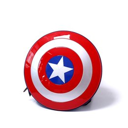 Wholesale Marvel Canvas - best cosplay Marvels The Avengers captain America hard shield Backpack Bag student bag Children's gift Agents of S.H.I.E.L.D.