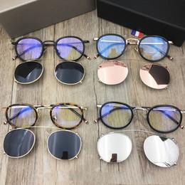 Marcos de anteojos vintage Marcos de gafas Hombres Clip de gafas de sol con lentes polarizadas TB-710 Marco de gafas ópticas con caja original desde fabricantes